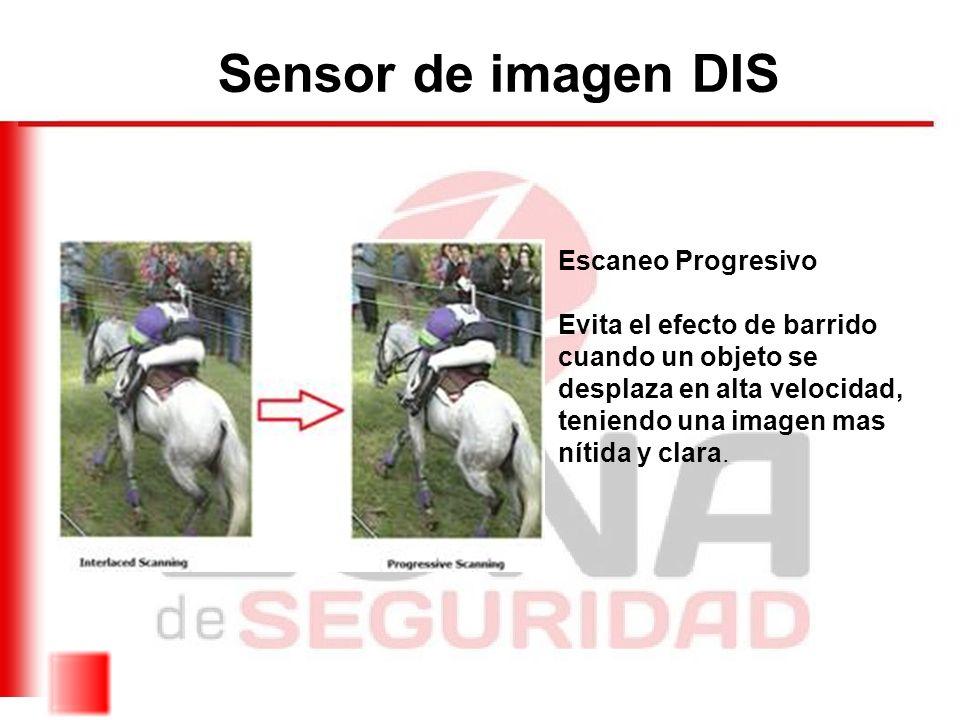 Sensor de imagen DIS Escaneo Progresivo