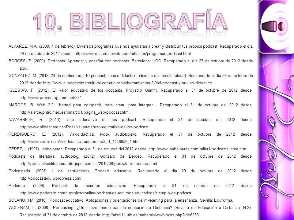 10. BIBLIOGRAFÍA