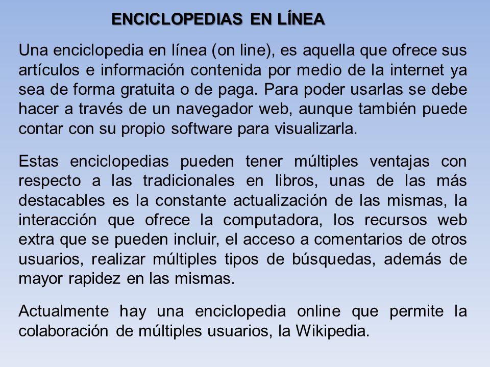 ENCICLOPEDIAS EN LÍNEA