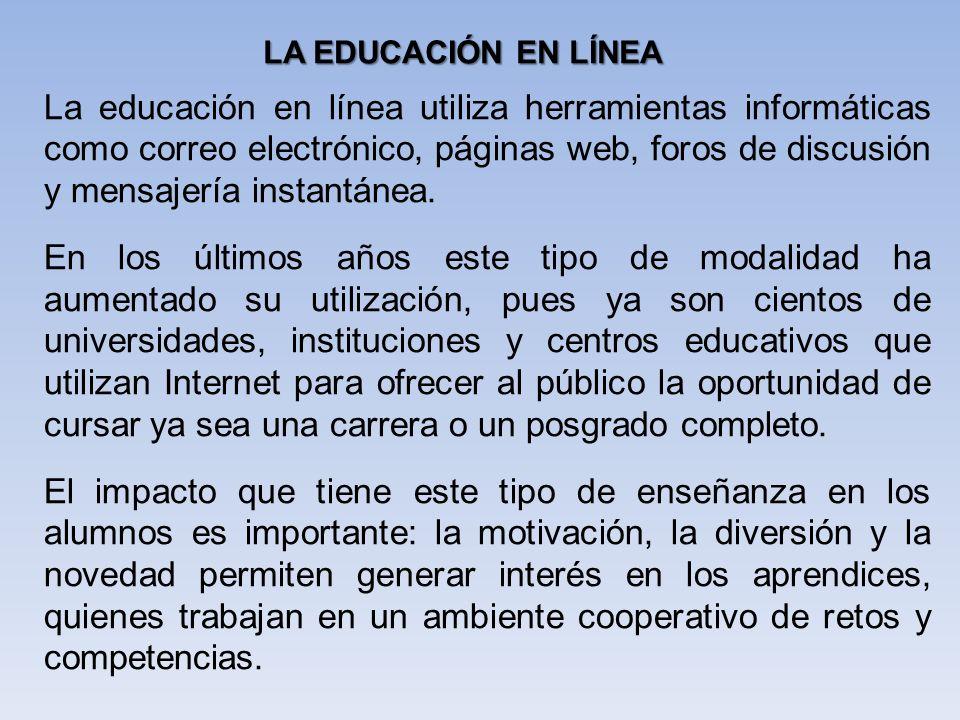 LA EDUCACIÓN EN LÍNEA