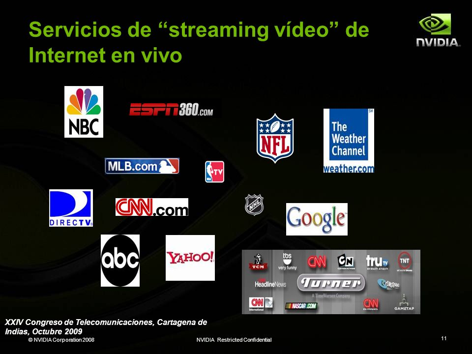 Servicios de streaming vídeo de Internet en vivo