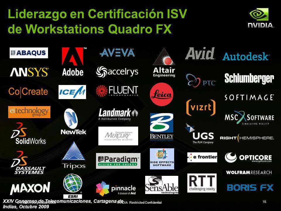 Liderazgo en Certificación ISV de Workstations Quadro FX