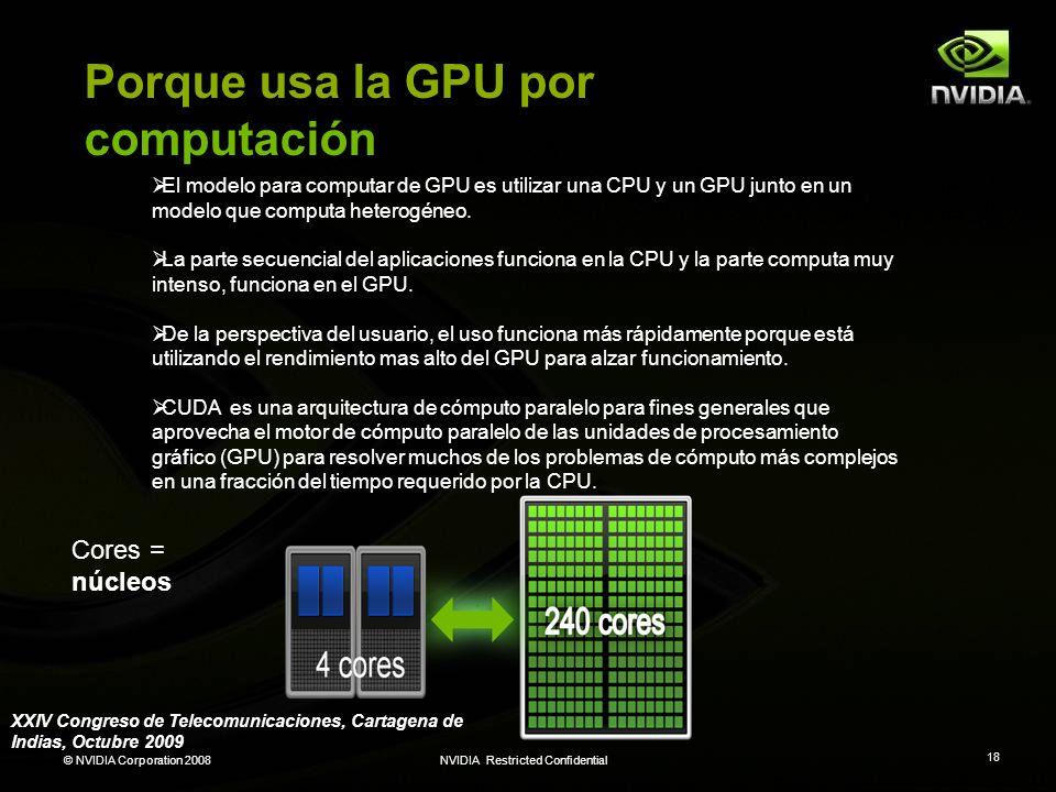 Porque usa la GPU por computación