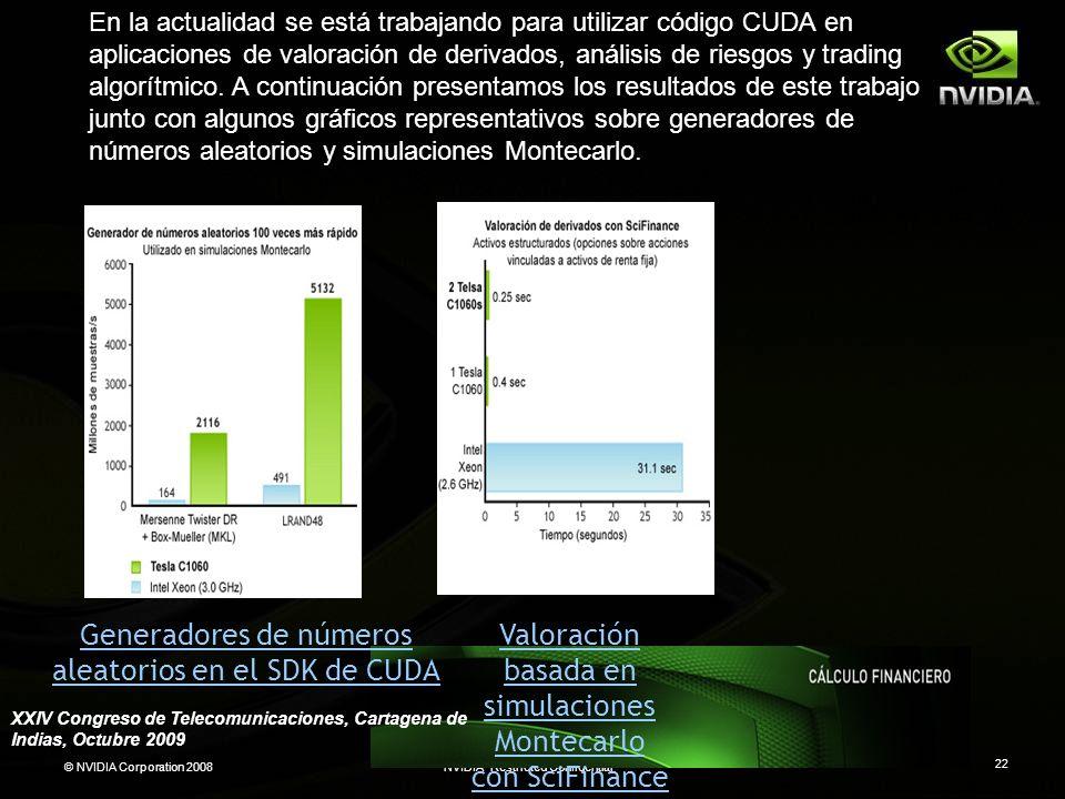 Generadores de números aleatorios en el SDK de CUDA