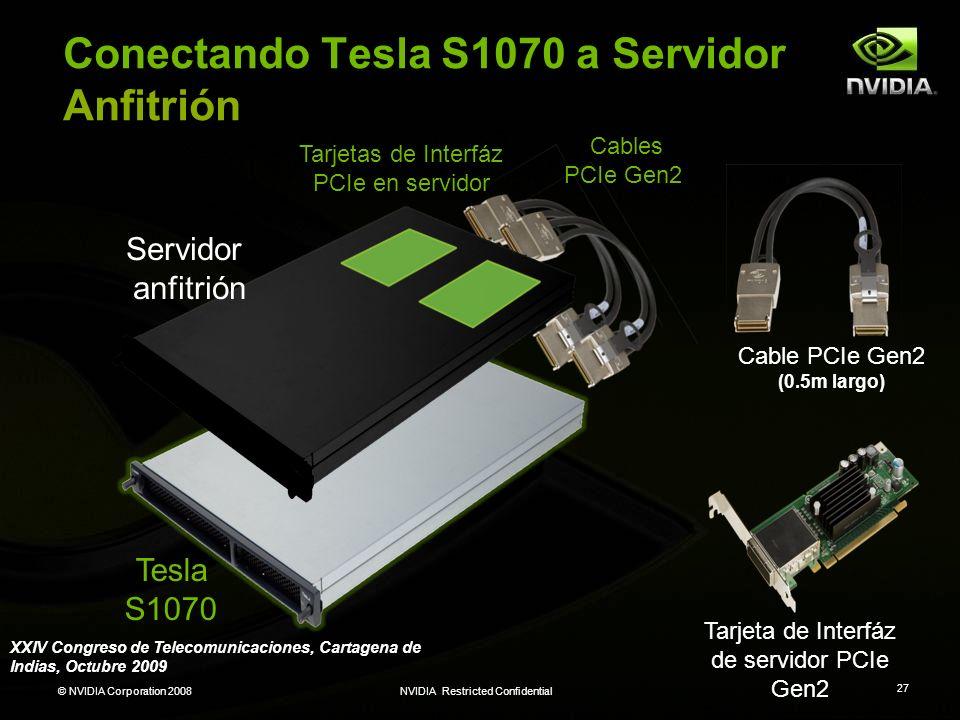Conectando Tesla S1070 a Servidor Anfitrión