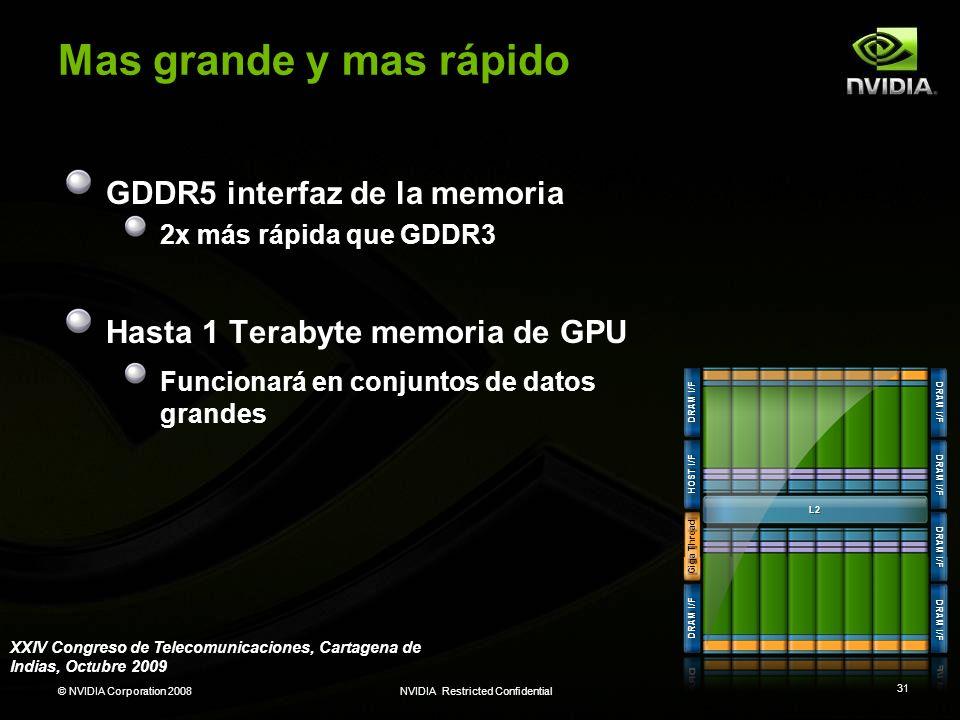 Mas grande y mas rápido GDDR5 interfaz de la memoria