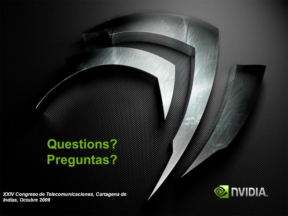 Questions Preguntas XXIV Congreso de Telecomunicaciones, Cartagena de Indias, Octubre 2009 35