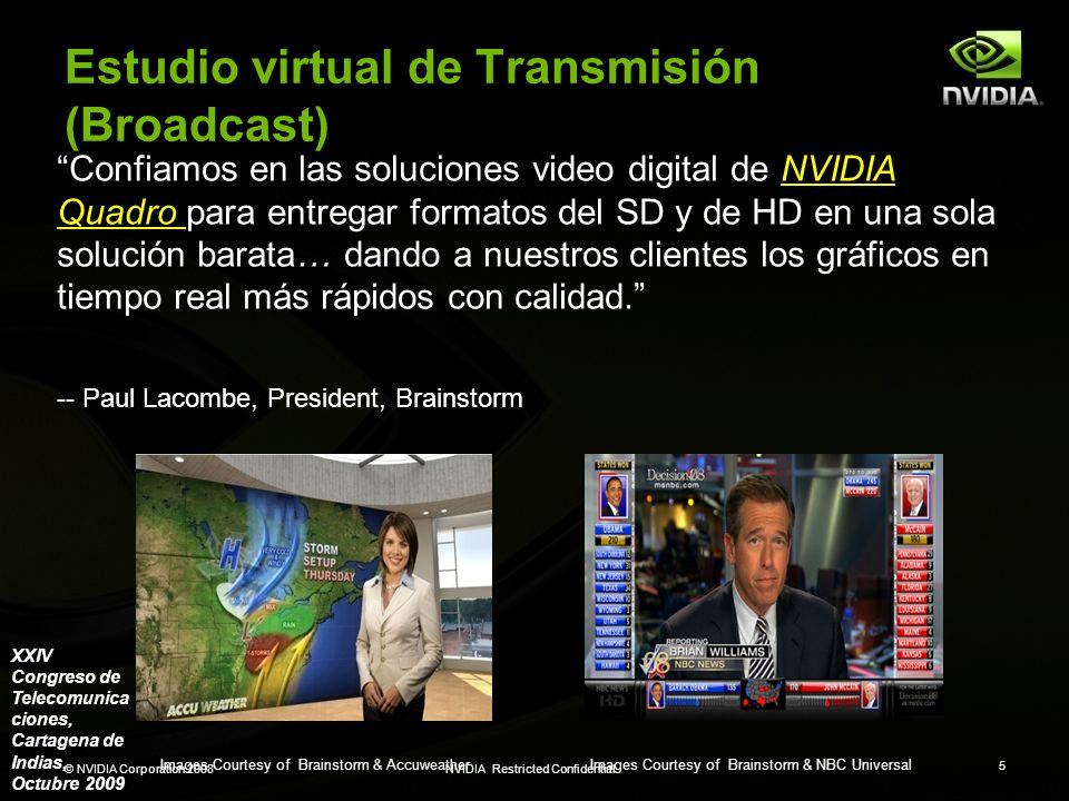 Estudio virtual de Transmisión (Broadcast)