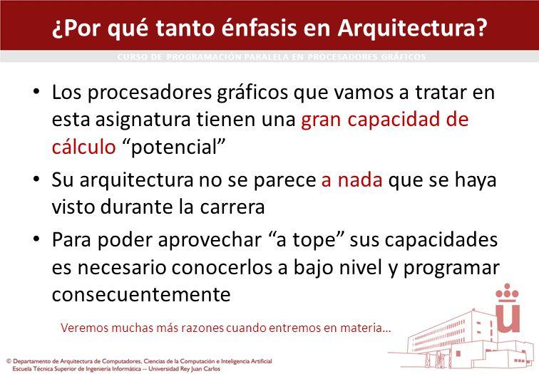 ¿Por qué tanto énfasis en Arquitectura