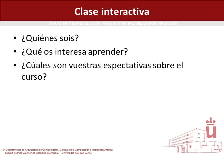 Clase interactiva ¿Quiénes sois ¿Qué os interesa aprender