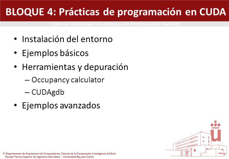 BLOQUE 4: Prácticas de programación en CUDA