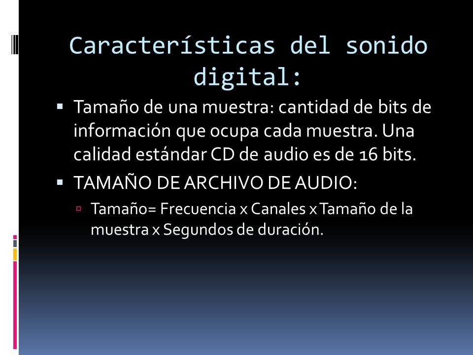 Características del sonido digital:
