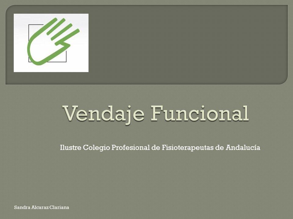 Vendaje Funcional Ilustre Colegio Profesional de Fisioterapeutas de Andalucía.