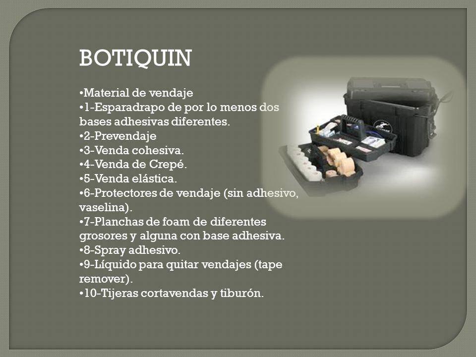 BOTIQUIN •Material de vendaje