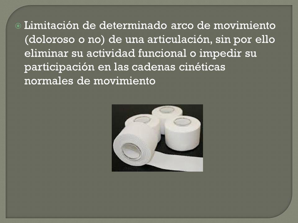 Limitación de determinado arco de movimiento (doloroso o no) de una articulación, sin por ello eliminar su actividad funcional o impedir su participación en las cadenas cinéticas normales de movimiento