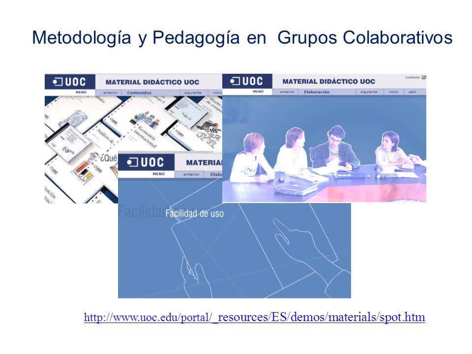Metodología y Pedagogía en Grupos Colaborativos