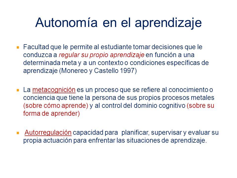 Autonomía en el aprendizaje