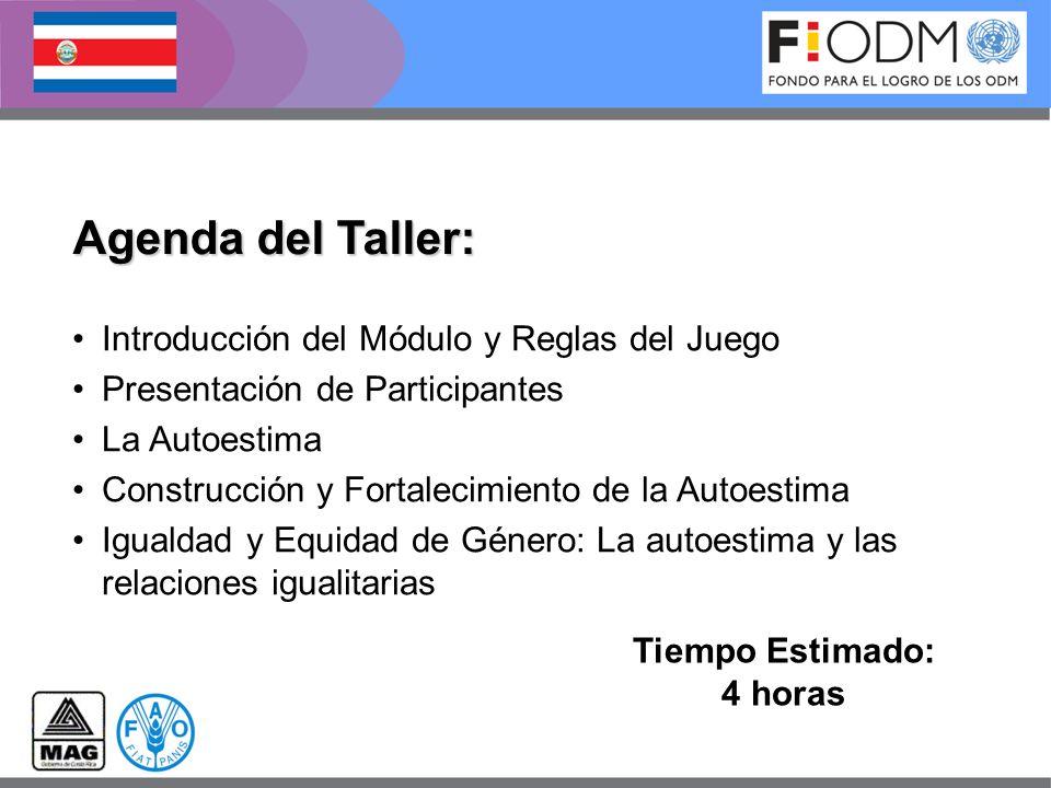 Agenda del Taller: Introducción del Módulo y Reglas del Juego