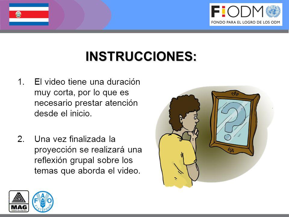 INSTRUCCIONES: El video tiene una duración muy corta, por lo que es necesario prestar atención desde el inicio.