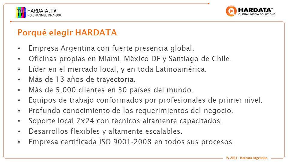 Porqué elegir HARDATA Empresa Argentina con fuerte presencia global.