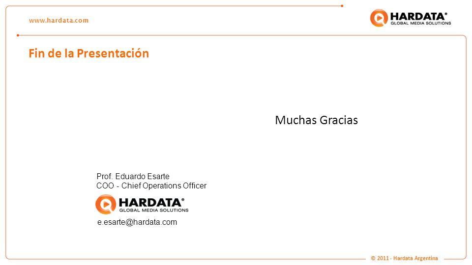 Fin de la Presentación Muchas Gracias Prof. Eduardo Esarte