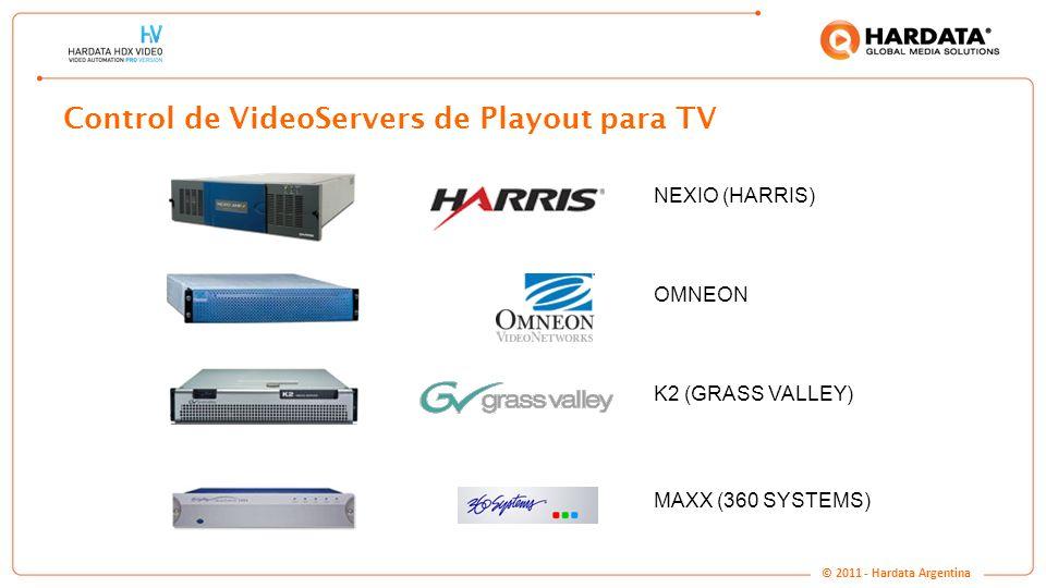 Control de VideoServers de Playout para TV