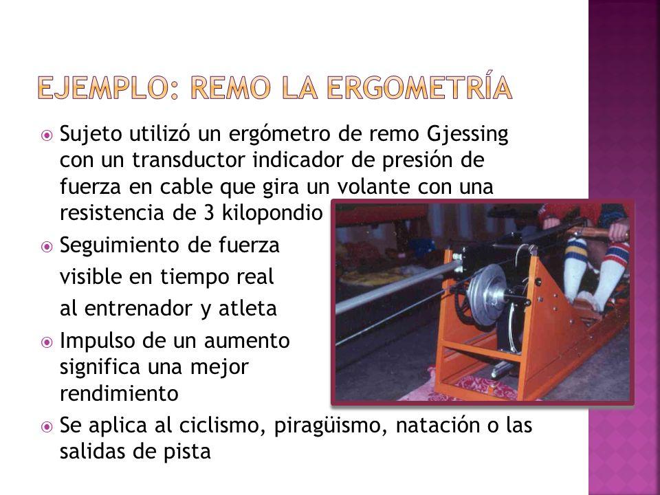 Ejemplo: Remo la ergometría