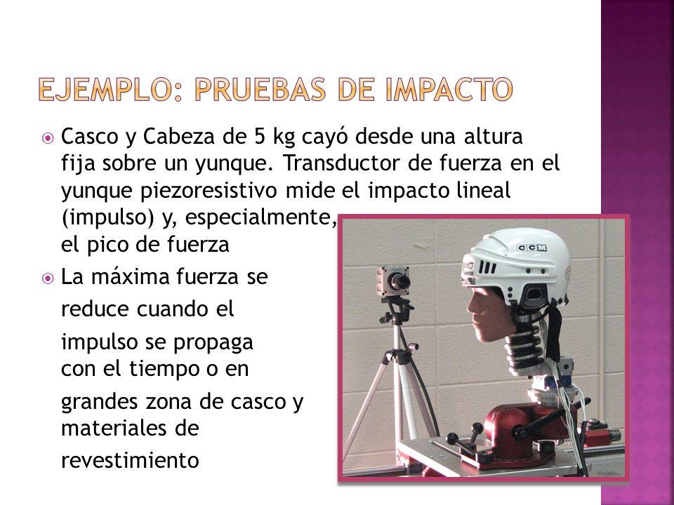 Ejemplo: pruebas de impacto