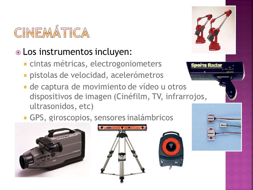 Cinemática Los instrumentos incluyen: