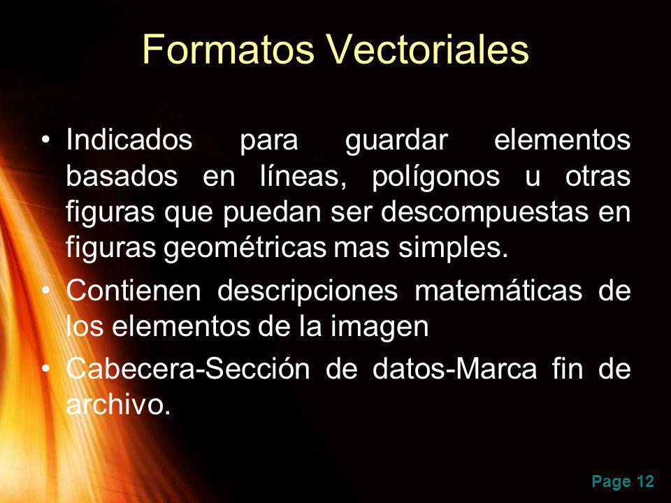 Formatos Vectoriales
