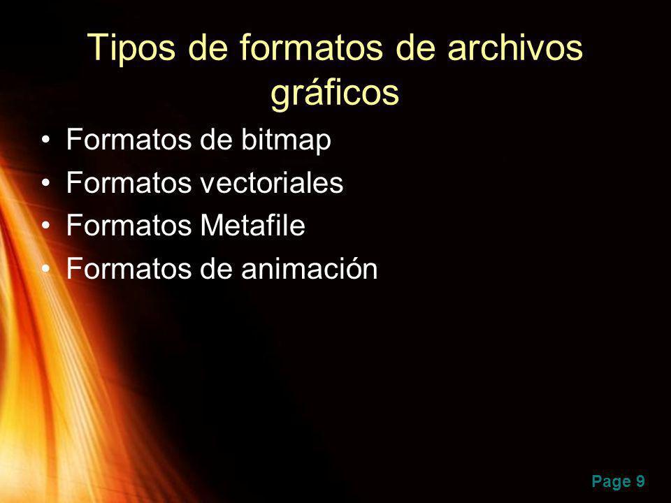Tipos de formatos de archivos gráficos