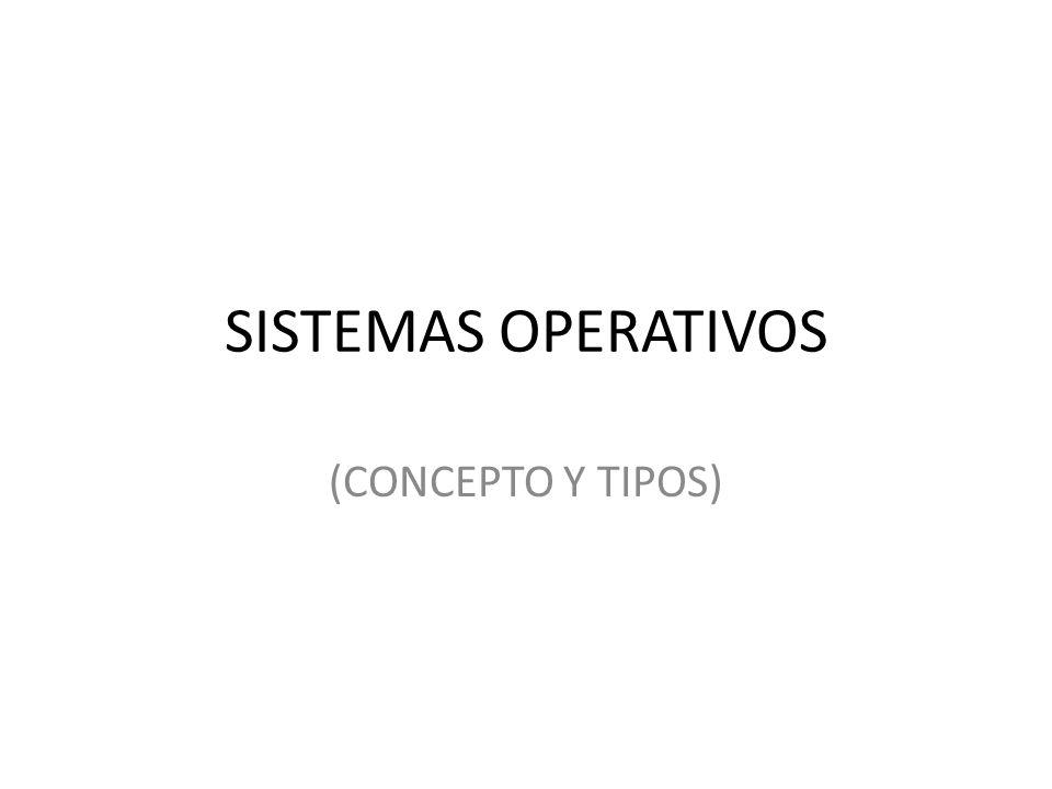 SISTEMAS OPERATIVOS (CONCEPTO Y TIPOS)