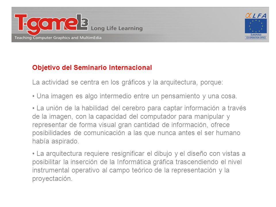 Objetivo del Seminario Internacional