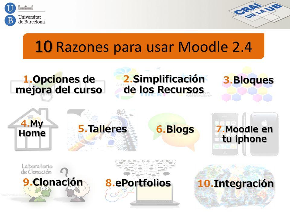 2.Simplificación de los Recursos 1.Opciones de mejora del curso