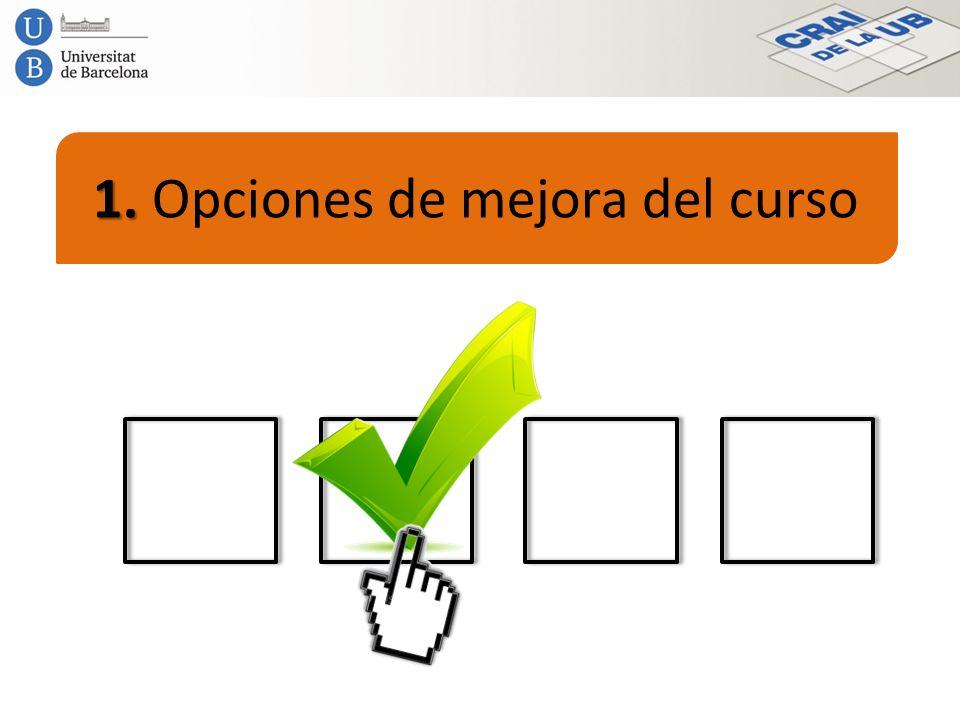 1. Opciones de mejora del curso