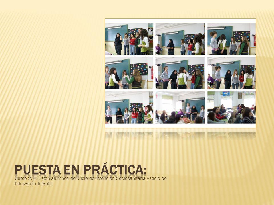 PUESTA EN PRÁCTICA: Curso 2011.