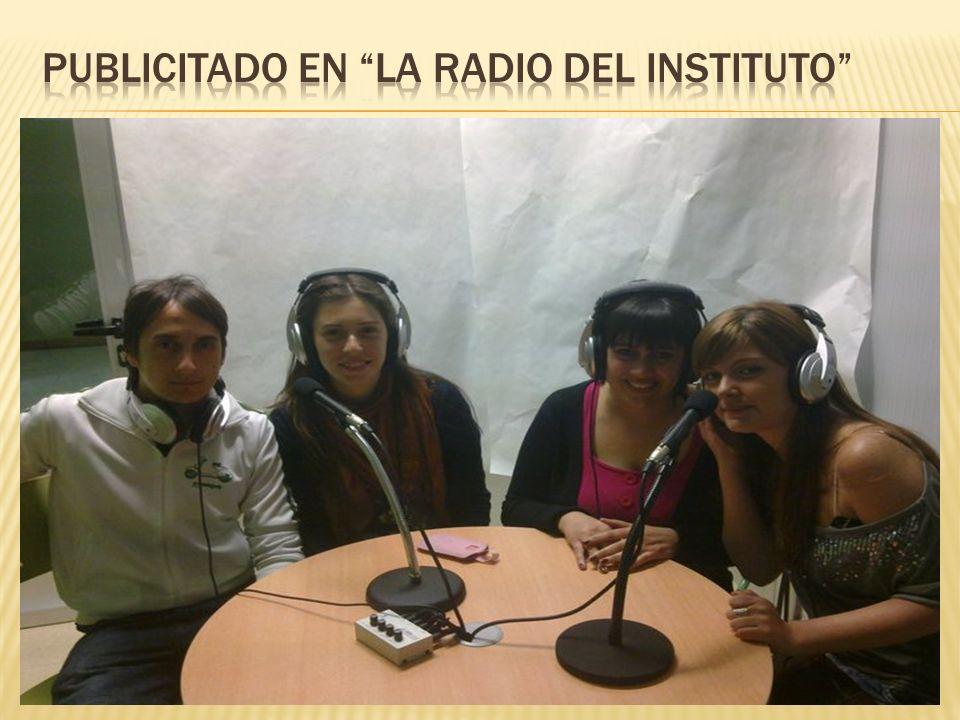 Publicitado en La Radio del Instituto