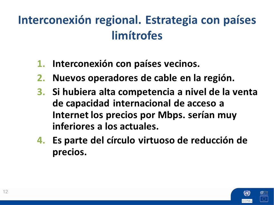Interconexión regional. Estrategia con países limítrofes