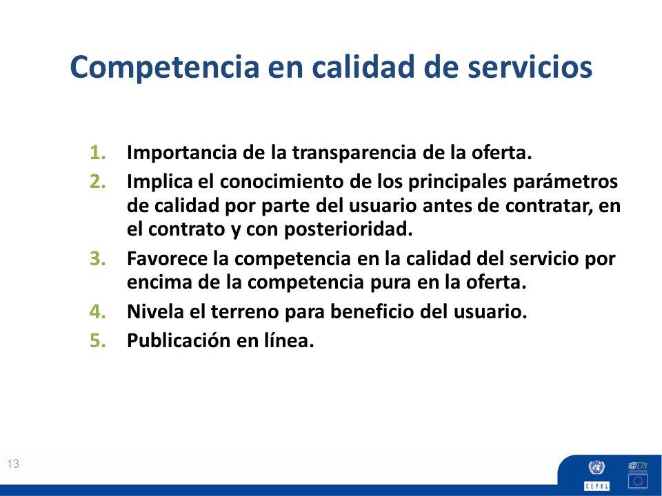 Competencia en calidad de servicios