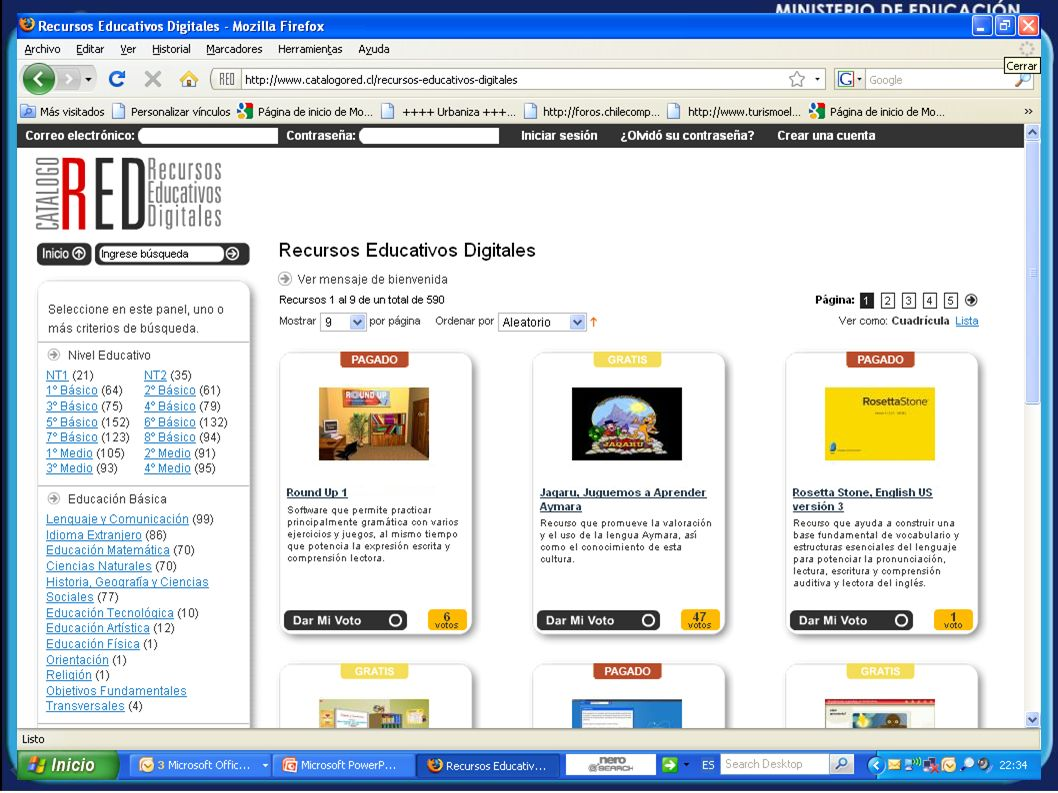 Catálogo RED Recursos Educativos Digitales
