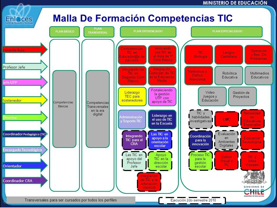 Malla De Formación Competencias TIC