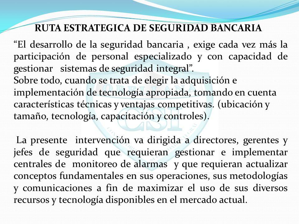 RUTA ESTRATEGICA DE SEGURIDAD BANCARIA