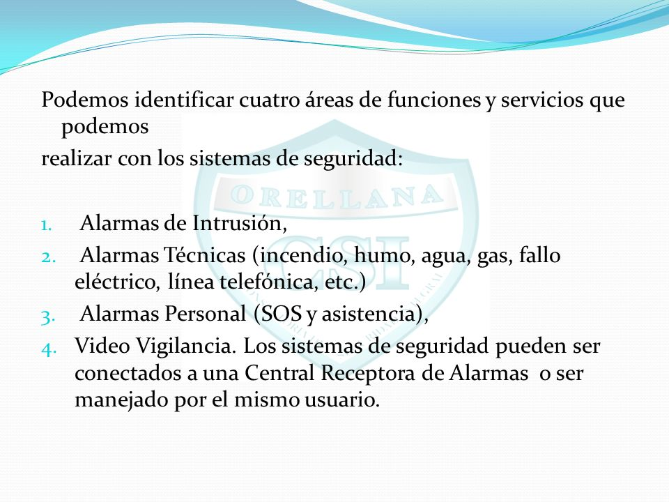 Podemos identificar cuatro áreas de funciones y servicios que podemos