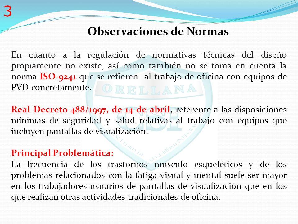 Observaciones de Normas