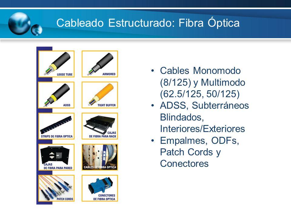 Cableado Estructurado: Fibra Óptica
