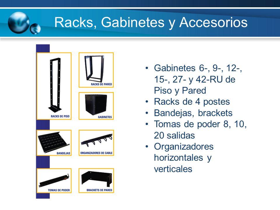 Racks, Gabinetes y Accesorios