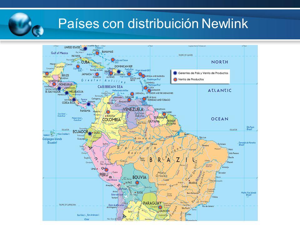 Países con distribuición Newlink