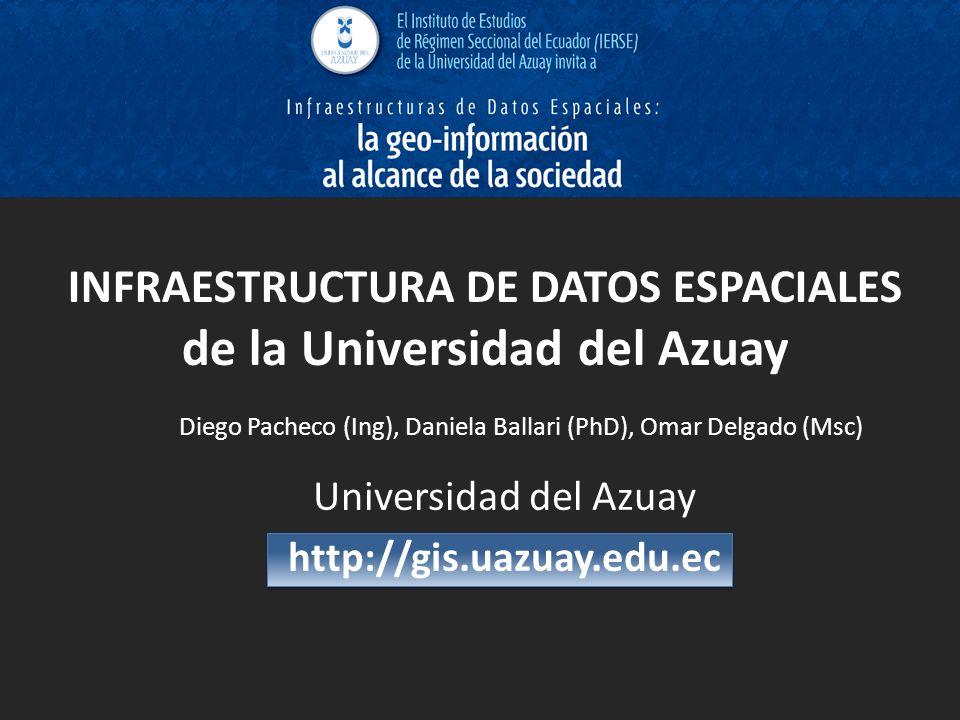 INFRAESTRUCTURA DE DATOS ESPACIALES de la Universidad del Azuay