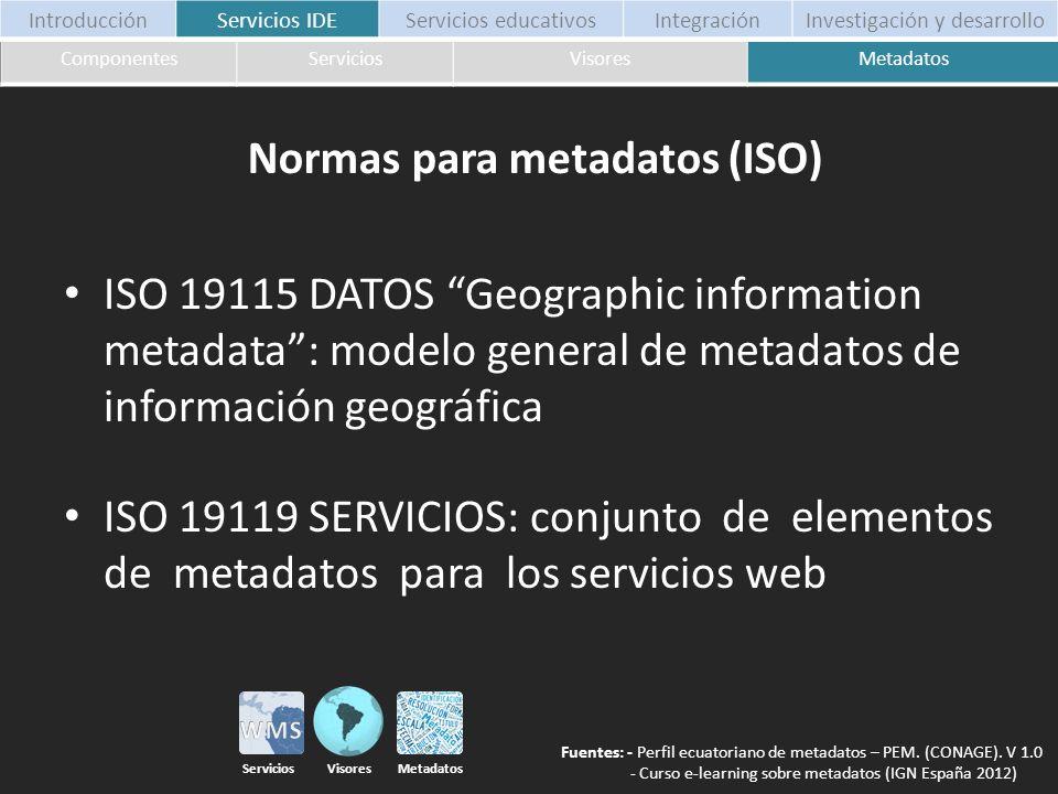 Normas para metadatos (ISO)