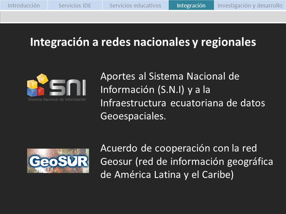 Integración a redes nacionales y regionales